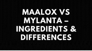 Maalox vs Mylanta – Ingredients & Differences